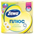 Бумага туалетная ZEWA Plus, спайка 4шт.х23м, аромат ромашки (упаковка 24шт)
