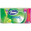 Бумага туалетная ZEWA Plus, спайка 8шт.х23м, аромат яблока (упаковка 12шт)
