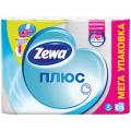 Бумага туалетная ZEWA Plus, спайка 12шт.х23м, белая (упаковка 7шт)