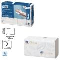 Полотенца бумажные 110шт, TORK (H2) Premium, 21х34, белые