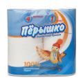 """Бумага туалетная """"Перышко"""", спайка 4шт.х22м, белая (упаковка 16шт)"""