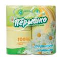 """Бумага туалетная """"Перышко"""", спайка 4шт.х22м, аромат ромашка (упаковка 16шт)"""