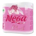 Бумага туалетная NEGA Classic, спайка 4шт.х19м, белая (упаковка 12шт)