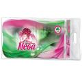 Бумага туалетная NEGA Classic, спайка 4шт.х19м, белая (упаковка 6шт)