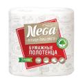 Полотенце бумажное NEGA, 2-х слойное, спайка 2шт.х17,6м