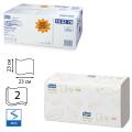 Полотенца бумажные 200шт, TORK (H3) Premium, КОМПЛЕКТ 15шт, 23х23, белые