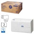 Полотенца бумажные 250шт, TORK (H3) Advanced, КОМПЛЕКТ 15шт, 25х23, белые