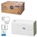 Полотенца бумажные 250шт, TORK (H3) Advanced, КОМПЛЕКТ 15шт, 25х23, зеленые