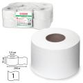 Бумага туалетная 200м, ЛАЙМА, КОМПЛЕКТ 12шт, классик, белая