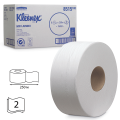 Бумага туалетная 250м, KIMBERLY-CLARK Kleenex, КОМПЛЕКТ 6шт, Миди Jumbo, белая