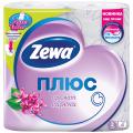 Бумага туалетная ZEWA Plus, спайка 4шт.х23м, аромат сирени (упаковка 24шт)