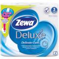Бумага туалетная ZEWA Delux, спайка 4шт.х20,7м, белая