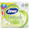 Бумага туалетная ZEWA Delux, спайка 4шт.х20,7м, аромат ромашки
