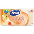Бумага туалетная ZEWA Delux, спайка 8шт.х20,7м, аромат персика