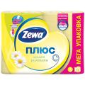 Бумага туалетная ZEWA Plus, спайка 12шт.х23м, аромат ромашки (упаковка 7шт)