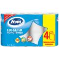 Полотенце бумажное ZEWA 2-х слойное, спайка 4шт.х15м