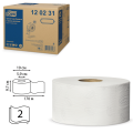 Бумага туалетная 170м, TORK (Т2), КОМПЛЕКТ 12шт, Advanced, белая
