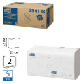 Полотенца бумажные 200шт, TORK (H3)Advanced, КОМПЛЕКТ 20шт, 23х23, белые