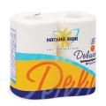 Бумага туалетная МЯГКИЙ ЗНАК Deluxe, спайка 4шт.х22м, белая (упаковка 24шт)