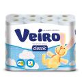 Бумага туалетная LINIA VEIRO Classic, спайка 24шт.х17,5м, белая
