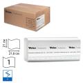 Полотенца бумажные 250шт, VEIRO (F1), КОМПЛЕКТ 15шт, Comfort, 21х21,6, белые