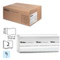 Полотенца бумажные 200шт, VEIRO (F2), КОМПЛЕКТ 21шт, Comfort, 24х21,6, белые