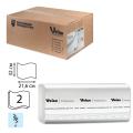 Полотенца бумажные 150шт, VEIRO (F2), КОМПЛЕКТ 21шт, Comfort, 32х21,6, белые