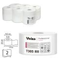 Бумага туалетная 170м, VEIRO (Q2), КОМПЛЕКТ 12шт, Premium, белая