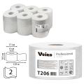 Бумага туалетная 125м, VEIRO (Q2), КОМПЛЕКТ 12шт, Comfort, белая