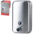 Диспенсер для жидкого мыла наливной KSITEX, нержавещающая сталь, матовый, 0,8 л