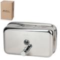 Диспенсер для жидкого мыла наливной KSITEX, нержавеющая сталь, зеркальный, 1,2 л