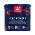 Краска моющаяся Тиккурила Евро Пауэр  TVT G305, 2,7 литра