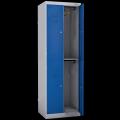 Цветной четырехсекционный гардеробный шкаф для раздевалок