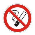 "Знак запрещающий ""Запрещается курить"", диаметр 200мм"