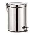 """Ведро-контейнер для мусора с педалью ЛАЙМА """"Classic"""", 5 л, зеркальное, нержавеющая сталь"""