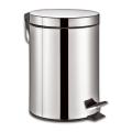 """Ведро-контейнер для мусора с педалью ЛАЙМА """"Classic"""", 12 л, зеркальное, нержавеющая сталь"""