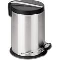 """Ведро-контейнер для мусора с педалью ЛАЙМА """"Modern"""", 12 л, матовое, нержавеющая сталь"""