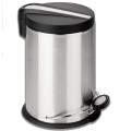 """Ведро-контейнер для мусора с педалью ЛАЙМА """"Modern"""", 30 л, матовое, нержавеющая сталь"""