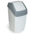 Ведро-контейнер для мусора IDEA, 15 л, качающаяся крышка, серое