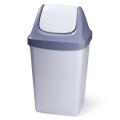 Ведро-контейнер для мусора IDEA, 50 л, качающаяся крышка, серое