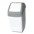 Ведро-контейнер для мусора IDEA, 25 л, качающаяся крышка, серое