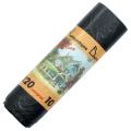 Мешки для мусора 120л, КОМПЛЕКТ 10шт, рулон, черные (упаковка 35шт)