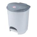 Ведро-контейнер для мусора с педалью IDEA, 11 л, серое