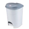 Ведро-контейнер для мусора с педалью IDEA, 19л, серое