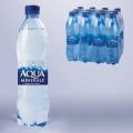 Вода газированная питьевая АКВА МИНЕРАЛЕ 0,6л (упаковка 12шт)