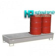 Поддон металлический с ёмкостью полного сбора пролитой жидкости для хранения 6-ти бочек 1875х1250х430 мм
