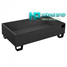 Поддон металлический без ёмкости для хранения 4-х бочек 2500х700х160 мм