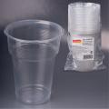 Одноразовые стаканы ЛАЙМА Бюджет, КОМПЛЕКТ 20шт., 0,5л прозрачные (упаковка 35 комплектов)