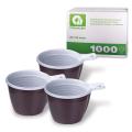 Одноразовые чашки КОМПЛЕКТ 1000шт. (20уп.по50), 180мл, бело-коричневые