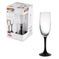 """Набор бокалов для шампанского PASABAHCE """"Imperial Black"""""""